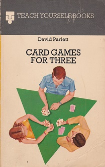 Secondhand Used Book – CARD GAMES FOR THREE by David Parlett