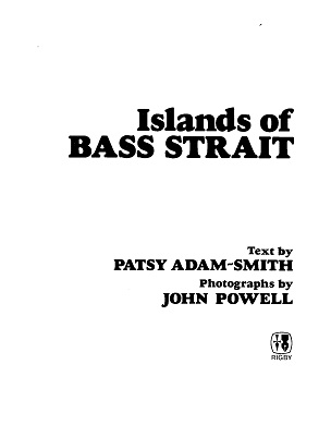 Secondhand Used book - ISLANDS OF BASS STRAIT by Patsy Adam-Smith