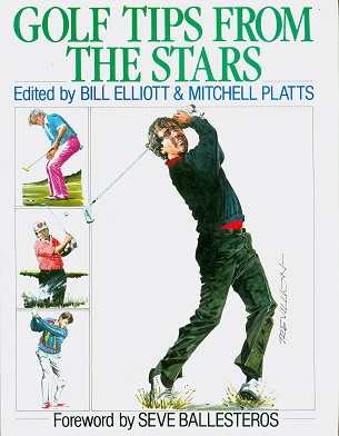 Secondhand Used Book - GOLF TIPS FROM THE STARS edited by Bill Elliott & Mitchell Platts