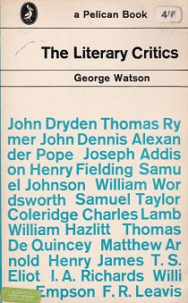 Secondhand Used Book - THE LITERARY CRITICS by George Watson