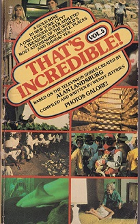 Secondhand Used Book – THAT'S INCREDIBLE1 VOLUME 5 compiled and written by Wendy Jeffries