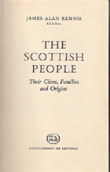 Secondhand Used Book - THE SCOTTISH PEOPLE by James Alan Rennie
