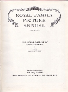 Secondhand Used Book - ROYAL FAMILY PICTURE ANNUAL: VOLUME ONE