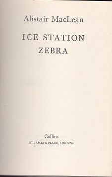 Secondhand Used Book - ICE STATION ZEBRA by Alistair MacLean