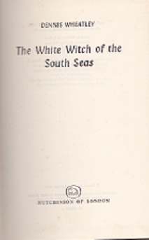 Secondhand Used Book - THE WHITE WITCH OF THE SOUTH SEAS by Denise Wheatley