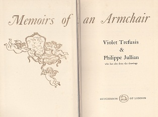 Secondhand Used Book - MEMOIRS OF AN ARMCHAIR byViolet Trefusis and Philippe Julian