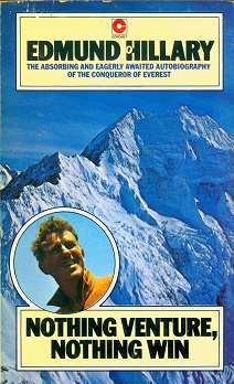 Secondhand Used Book - NOTHING VENTURE, NOTHING WIN by Edmund Hillary
