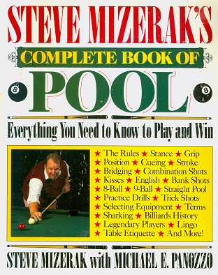 Secondhand Used Book - COMPLETE BOOK OF POOL by Steve Mizerak with Michael E Panozzo