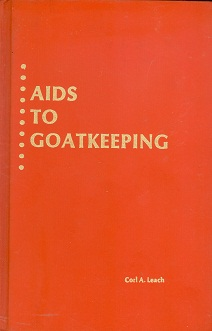 Secondhand Used book - AIDS TO GOAT KEEPING by Corl A. Leach