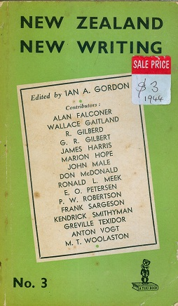Secondhand Used book - NEW ZEALAND NEW WRITING by Ian A. Gordon