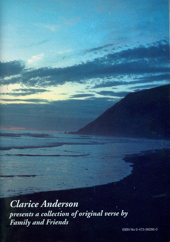 Secondhand Used Book - CLARICE ANDERSON PRESENTS A COLLECTION OF ORIGINAL VERSE BY FAMILY AND FRIENDS