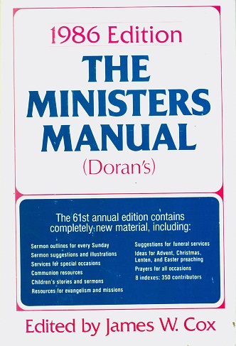 Secondhand Used Book - THE MINISTERS MANUAL (DORAN'S)