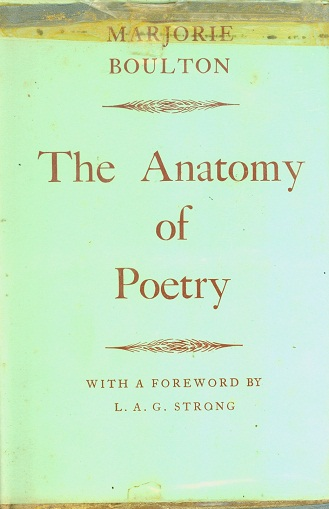 Secondhand Used Book - THE ANATOMY OF POETRY by Marjorie Boulton